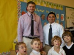 Chris Blohm & Andy Lee with Kindergarten boys